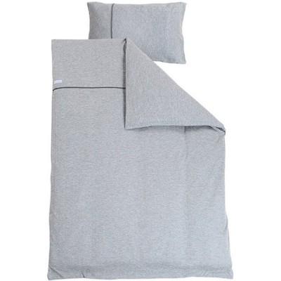 housse de couette et taie grey melange 100 x 140 et 40 x. Black Bedroom Furniture Sets. Home Design Ideas