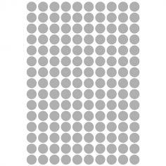 Stickers ronds argent (29,7 x 42 cm)