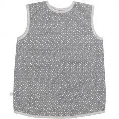 Tablier gris à pois en coton bio enduit (3-6 ans)