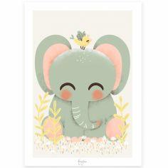 Affiche A4 Les Animignons l'éléphant