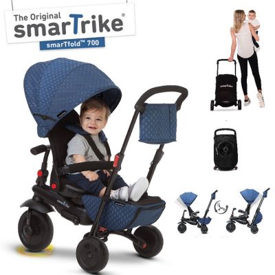 Tricycle évolutif 7 en 1 pliant smarTfold 700 bleu  par smarTrike