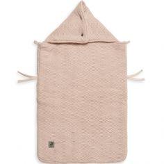 Nid d'ange passe sangle en tricot River knit rose pâle (78 cm)
