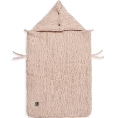 Nid d'ange passe sangle en tricot River knit rose pâle (78 cm)  par Jollein