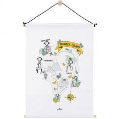 Affiche en tissu Monkey Island (42 x 60 cm)