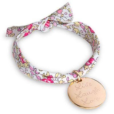 Bracelet enfant Liberty avec médaille personnalisable (plaqué or)  par Merci Maman
