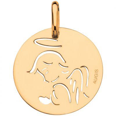 Médaille Ange ajouré 15 mm (or jaune 750°)