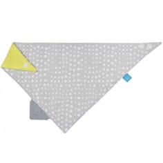 Bavoir bandana avec élément de dentition Gouttes de pluie gris
