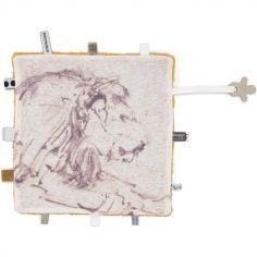 Doudou attache sucette Dreaming lion