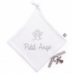 Doudou plat attache sucette Petit ange