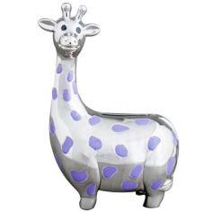 Tirelire Girafe (métal argenté)