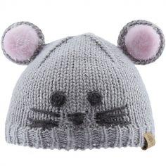 Bonnet en tricot souris (6-12 mois)
