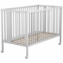 lit bb pliant avec roulettes blanc 60 x 120 cm - Lit Bebe Pliant