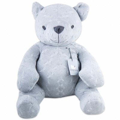 Peluche ourson Cable Uni gris (55 cm) Baby's Only