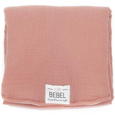 Tapis à langer rose brique  par BEBEL