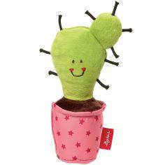 Hochet à grelot cactus Red Stars rose (15 cm)