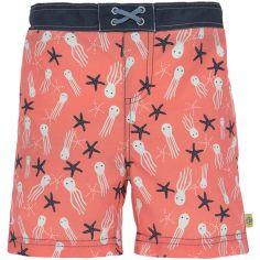 Maillot de bain short Splash & Fun étoiles de mer corail (18 mois)