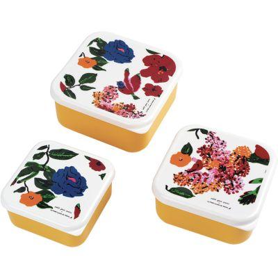 Lot de 3 boîtes à goûter Le Petit Lucas Du Tertre Hibiscus Petit Jour Paris