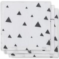 Lot de 3 essuie-mains hydrophiles Indians noir et blanc