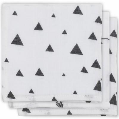 Lot de 3 essuie-mains hydrophiles Indians noir et blanc  par Jollein