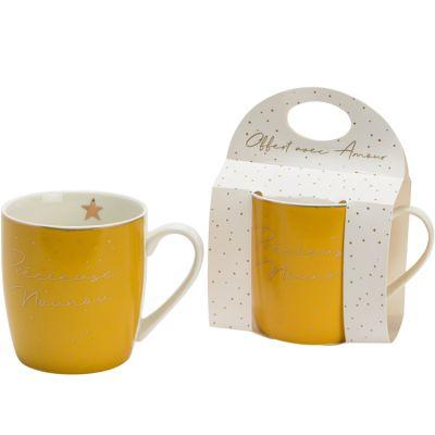 Mug jaune Précieuse nounou  par Amadeus Les Petits