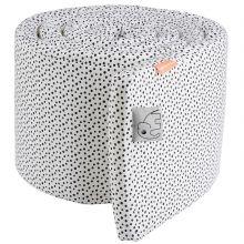 Tour de lit Happy Dots blanc et gris (pour lits 60 x 120 et 70 x 140 cm)  par Done by Deer