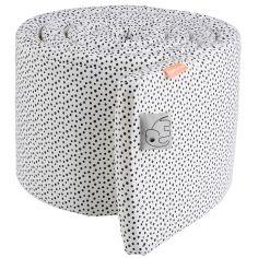 Tour de lit Happy Dots blanc et gris (pour lits 60 x 120 et 70 x 140 cm)
