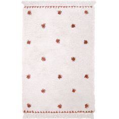 Tapis rectangulaire pois terracotta Wooly (100 x 150 cm)