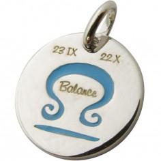 Médaille signe Balance 14 mm (argent 925°)