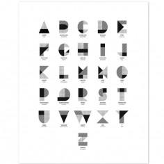 Affiche l'alphabet (40 x 50cm)