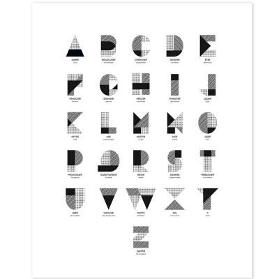Affiche l'alphabet (40 x 50cm)  par Lilipinso