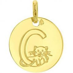 Médaille C comme chat (or jaune 750°)