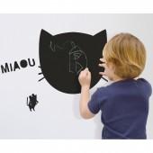 Sticker mural pense-bête en ardoise Miaou - Mimi'lou