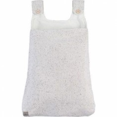 Vide-poches à suspendre en tricot Confetti naturel