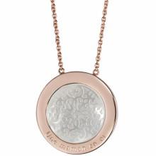 Pendentif Arabesque (plaqué or rose)  par Petits trésors