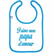 Bavoir J'aime mon papa d'amour bleu  par BB & Co