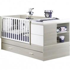 Lit bébé évolutif New Opale transformable en lit combiné avec son tiroir (70 x 140 cm)