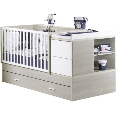 Lit bb volutif new opale transformable en lit combin - Lit bebe avec table a langer integree ...