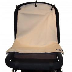 Protection pour poussette Baby Peace coton bio Uni gris