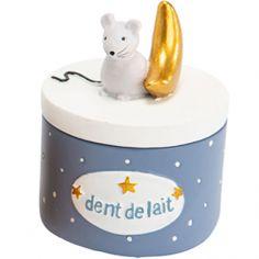 Boîte à dent souris Lilian bleue