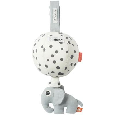 Jouet d'éveil musical à suspendre Ballon pois gris  par Done by Deer
