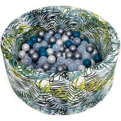 Piscine à balles ronde Jungle personnalisable (90 x 40 cm)