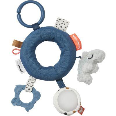Hochet anneau d'activités bleu  par Done by Deer