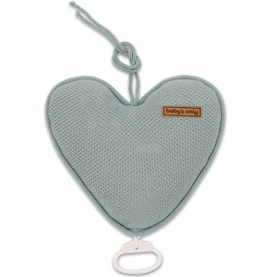 Coussin musical coeur Classic gris vert (26 cm) Baby's Only