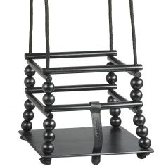 Balançoire d'intérieur en bois laqué noir