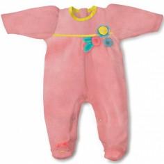 Pyjama chaud Mademoiselle et Ribambelle chouette (1 mois : 56 cm)