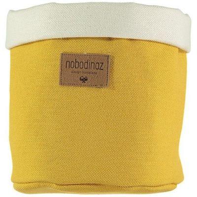 Panier de toilette Tango Farniente yellow (16 x 19 cm)  par Nobodinoz