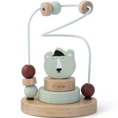 Boulier en bois avec tour à empiler ours Mr. Polar Bear  par Trixie