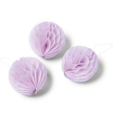 Boules en papier alvéolé rose (10 pièces)  par Arty Fêtes Factory