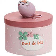 Boîte à dent souris rose clair