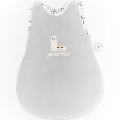 Gigoteuse chaude grise Lamamour (50 cm)  par Nougatine